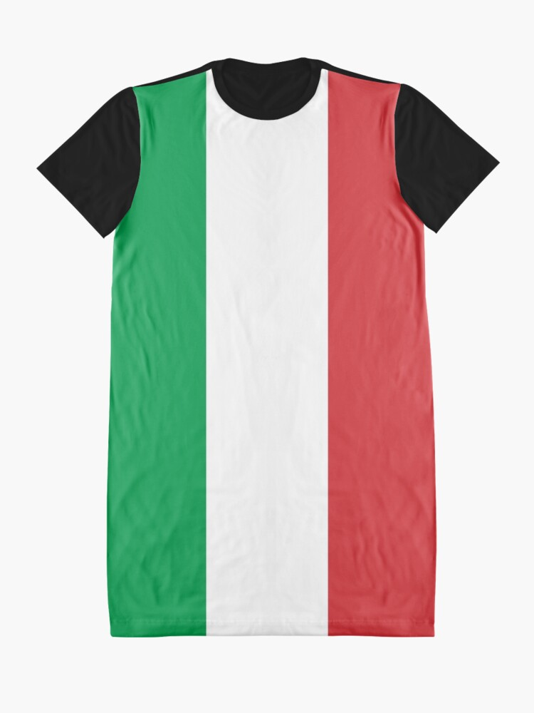 Alternate view of Flag of Italy - High quality authentic version Graphic T-Shirt Dress