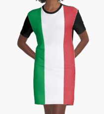 Flag of Italy - High quality authentic version Graphic T-Shirt Dress