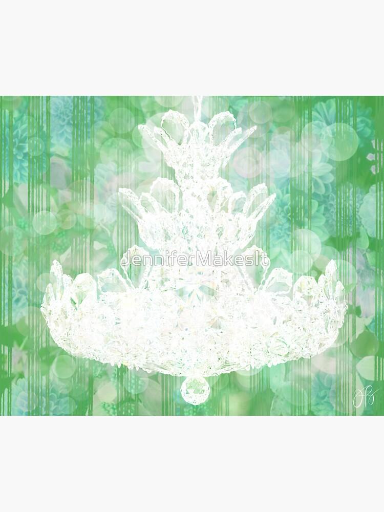Chandelier II - Green by JenniferMakesIt