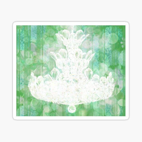 Chandelier II - Green Sticker