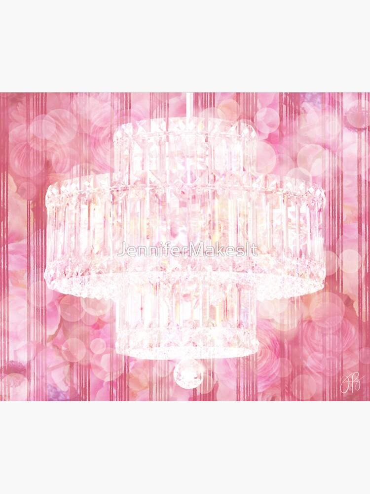 Chandelier I - Pink by JenniferMakesIt
