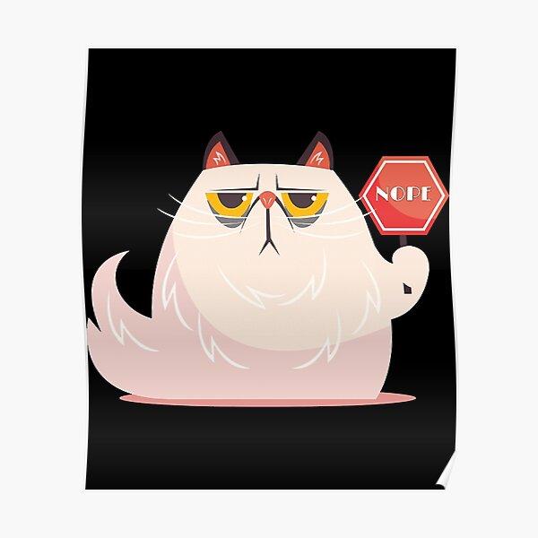 Katze sagt nein - Gehirnblasen Poster