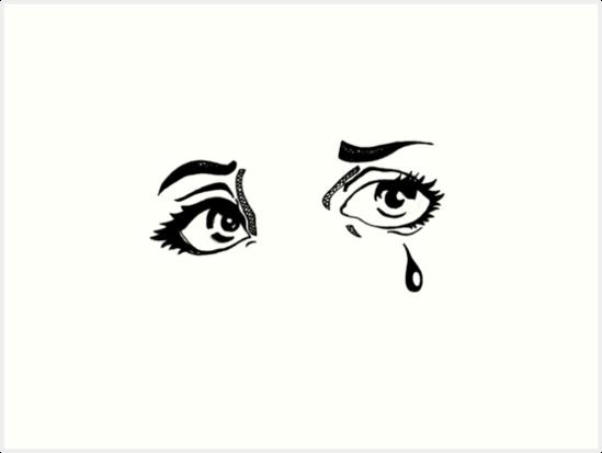 Hand Drawn Pop Art Eyes In Ink Art Prints By Echorose Redbubble