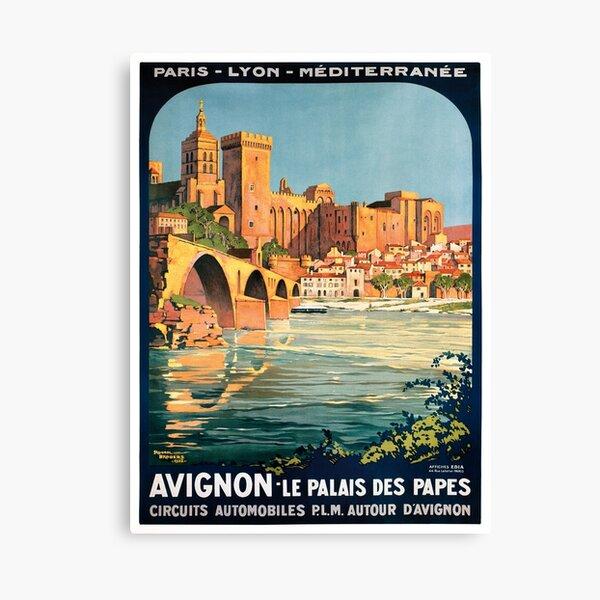 Avignon, French Travel Poster Canvas Print