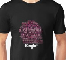 2014 Kinglet with Kingston sihloutte in black Unisex T-Shirt