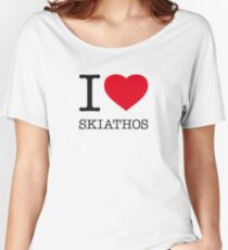 I ♥ SKIATHOS Women's Relaxed Fit T-Shirt