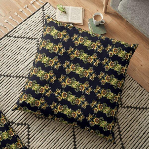 D1G1TAL-M00DZ ~ FloralFractal MBB39ptGFv by tasmanianartist Floor Pillow