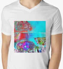 Untitled Abstract Men's V-Neck T-Shirt