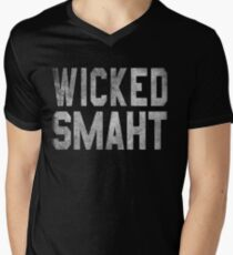 Wicked Smaht  Men's V-Neck T-Shirt
