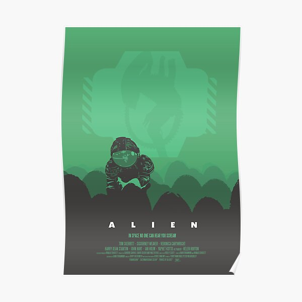 Alien Print de Ridley Scott Sigourney Weaver en tant que Ripley Poster