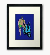 Zed Lilac Framed Print