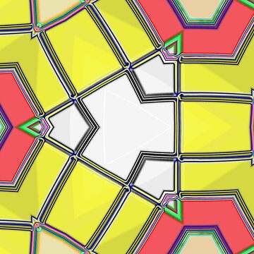 Red white yellow triangles pattern by dutchstranger