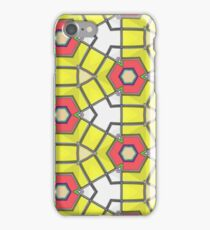 Red white yellow triangles pattern iPhone Case/Skin