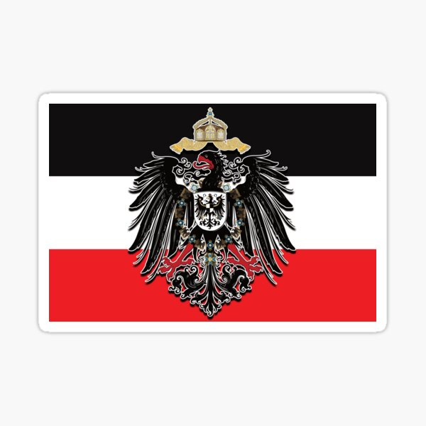 German Empire - German Imperial Eagle 1888 Sticker