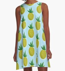 Pineapples A-Line Dress