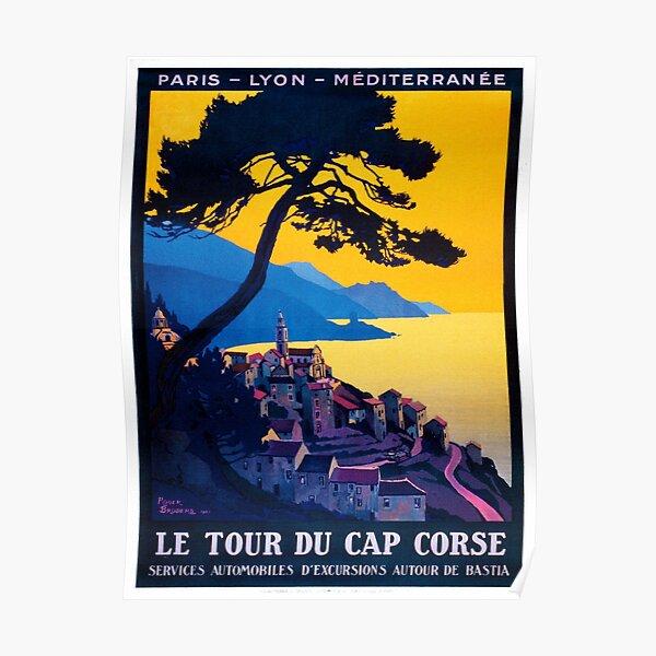Le Tour Du Cap Corse, Affiche Française de Voyage Poster