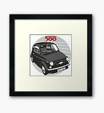 Fiat 500F black Framed Print