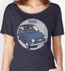 Fiat 500F dark blue Women's Relaxed Fit T-Shirt