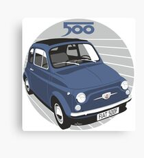Fiat 500F dark blue Canvas Print