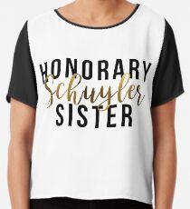 Blusa Honorario Schuyler Sister (lámina de oro)