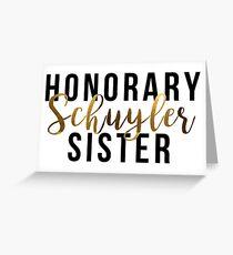 Ehrenschuyler Schwester (Goldfolie) Grußkarte