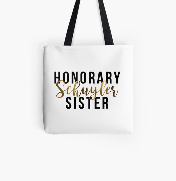 Honorary Schuyler Sister (Gold Foil) All Over Print Tote Bag