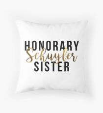 Cojín Honorario Schuyler Sister (lámina de oro)