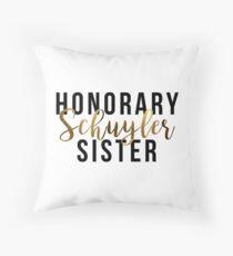 Honorary Schuyler Sister (Gold Foil) Throw Pillow