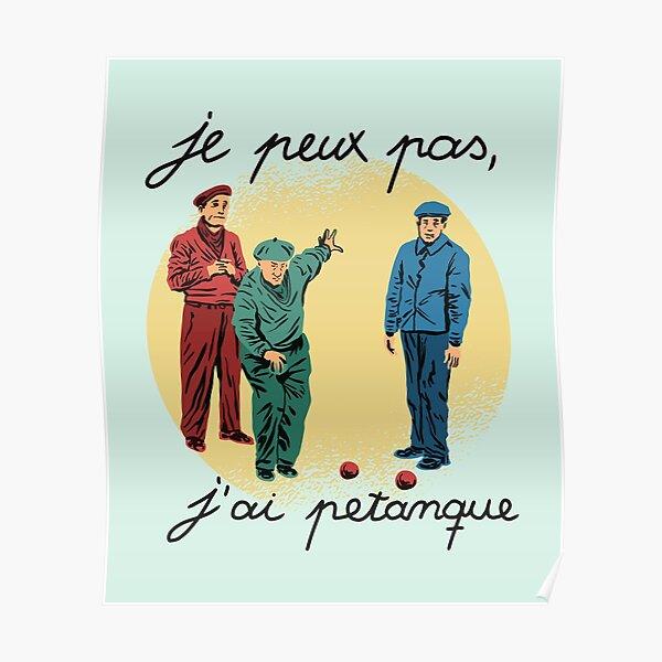 Pétanque Poster