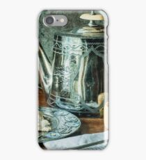 Still life with silver teapot iPhone Case/Skin
