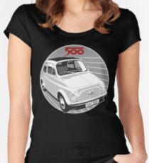 Fiat 500F white Women's Fitted Scoop T-Shirt