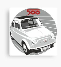 Fiat 500F white Canvas Print