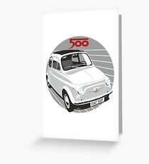 Fiat 500F white Greeting Card