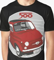 Fiat 500F red Graphic T-Shirt