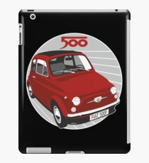 Fiat 500F red iPad Case/Skin