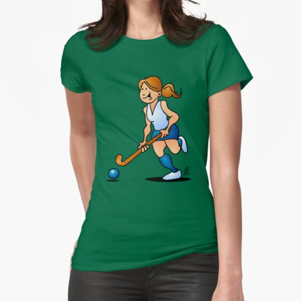 Field hockey girl Fitted T-Shirt
