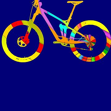 Mountain Bike Rainbow Swirl - MTB Collection #005 by klieneine
