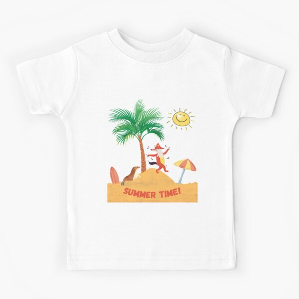 Summer time - fox and seal Kids T-Shirt