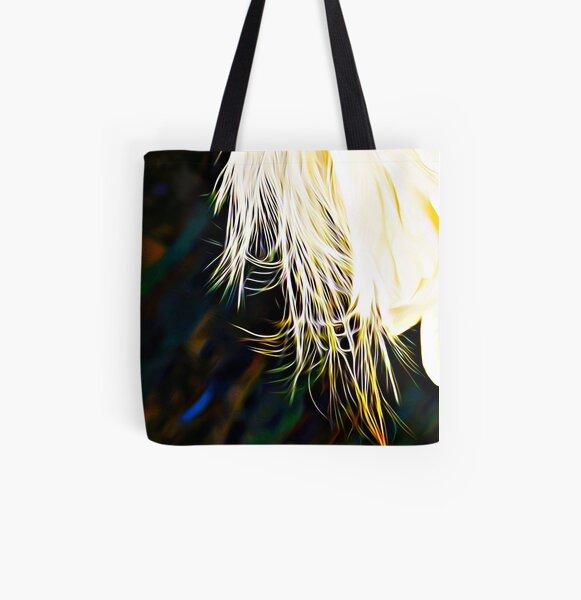 Egret print All Over Print Tote Bag