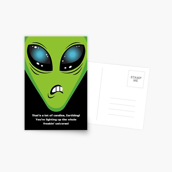 Illegal Aliens Birthday Card Postcard