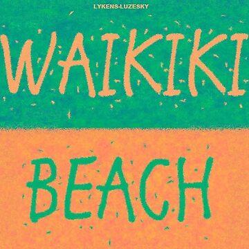 WAIKIKI BEACH towel shirt by lykens-luzesky