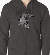 Peregrine Falcon Zipped Hoodie