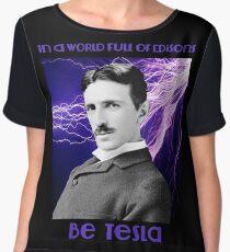 Nikola Tesla two Chiffon Top