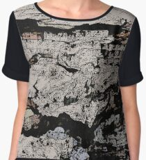 Rocky Mountain Wall Pattern Chiffon Top