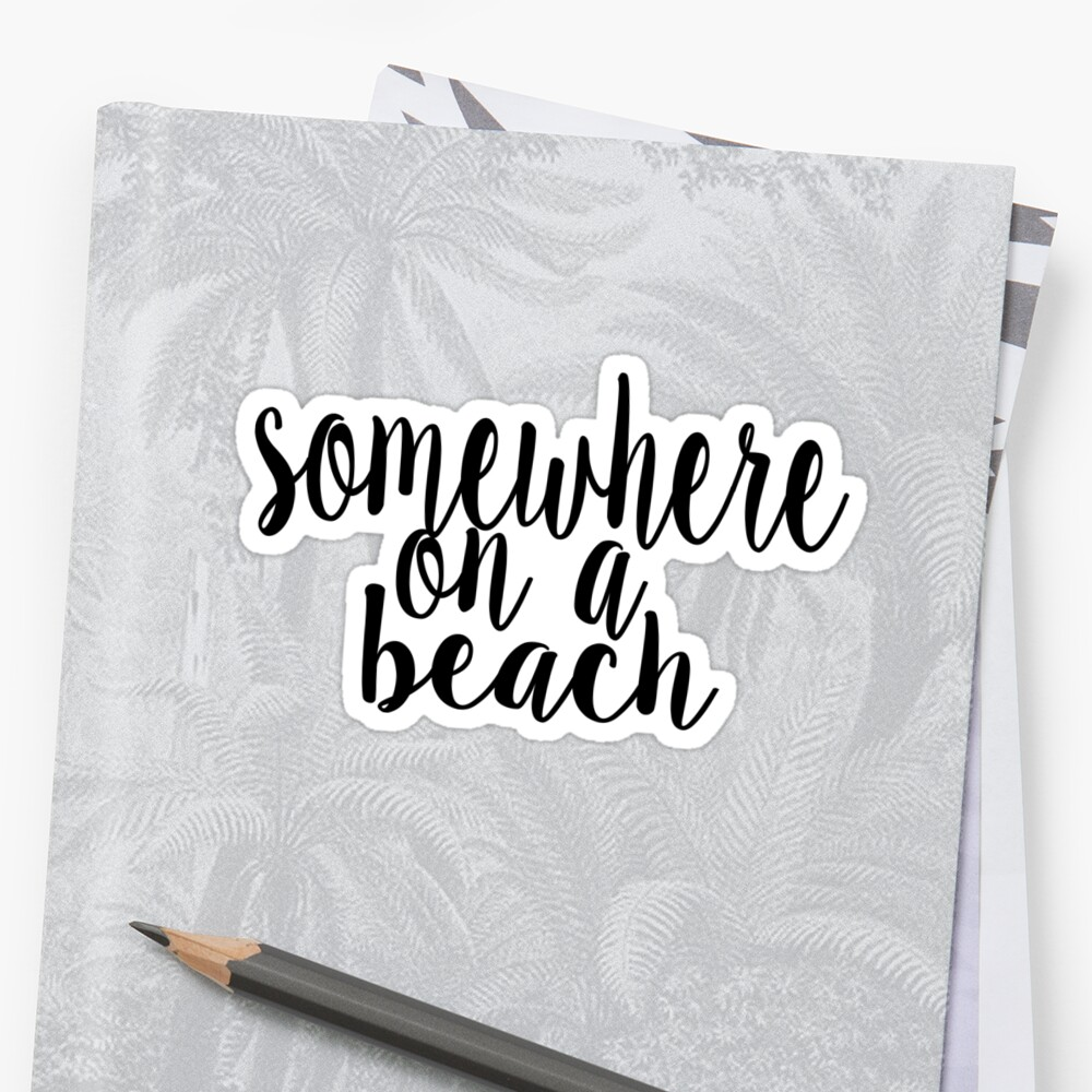 «En algún lugar en una playa» de feliciasdesigns