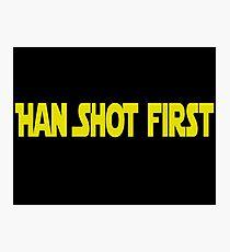 Han Shot First Photographic Print