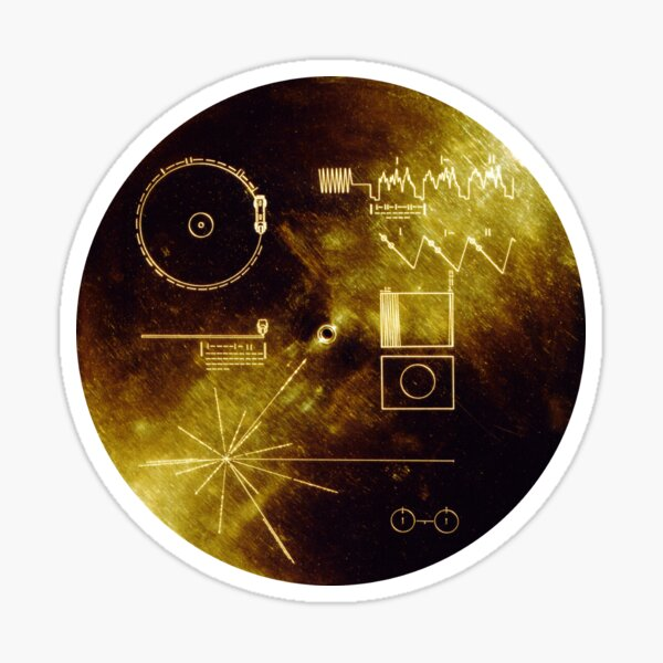 The Voyager Golden Record! Sticker