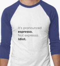 Espresso. Men's Baseball ¾ T-Shirt