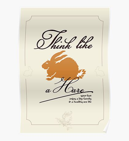 Think like a hare VRS2 Poster