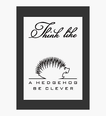 Think like a Hedgehog VRS2 Photographic Print